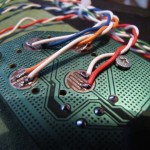 soldered cables on the joypad board